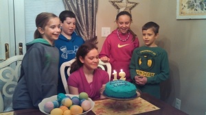 April is the month for birthdays in my family. Pop-Pop Messick, Danna, Derek, Devon, Alanna, Brielle, Jesse, and Townsend celebrated their birthday. Here Alanna celebrates turning 12! Brielle turned 9!