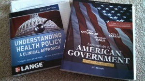 "In March, I began to teach a 7 week political course for Wilmington University. I usually teach quite a few courses over the winter as a part-time adjunct. It's my way to stay involved in teaching but it takes up a lot of my spare time. I also developed a health care policy course online. I take the material from the text and convert it to an online format using Blackboard. Very time consuming and challenging. All of the courses I'm involved in are for the new Government & Public Policy undergraduate program at Wilmington University. My goal is to lighten my load in the future to ""rearrange"" my spare time priorities."