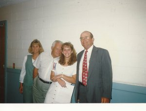 This was at Girl's State in 1997. He came to see me sworn in as Girl's State Auditor. (Danna, Pop-Pop Bob, Christy, Pop-Pop Bill)