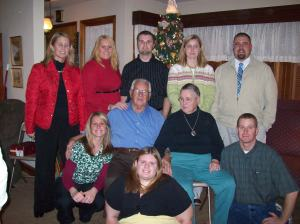 Dec. 2008. Our annual shot of all the grandkids.