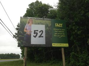 Not exactly a newspaper, but I found out through family that my face is plastered to this bilboard on Rt 404 east. Not sure how many beach tourists know that ethanol comes from corn, which I'm standing in front of but maybe they'll get the point. Or maybe they'll google it when they see how much gas has gone up in recent weeks.