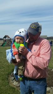 Easter Egg Hunting with Daddy